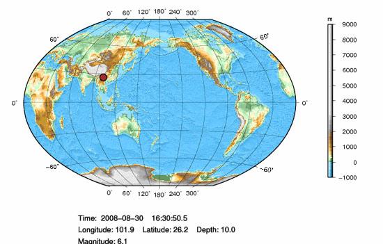 四川仁和与会理县交界发生6.1级地震