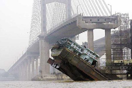 广东九江大桥被撞垮塌事故结案5人被法办