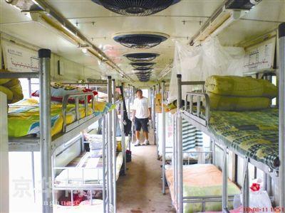 北京60辆退役地铁运往四川灾区当宿舍(图)