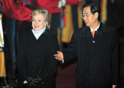 希拉里抵京后将入住布什住过的酒店
