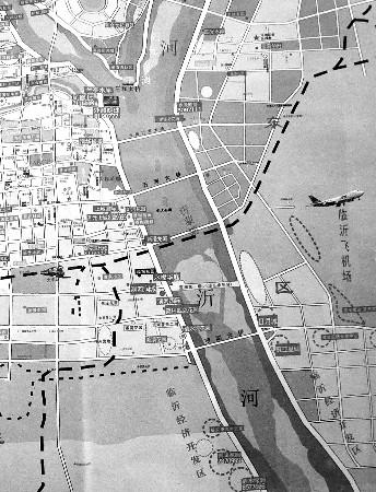 从地图上看,目前市区内共有6座沂河大桥横跨沂河两岸.
