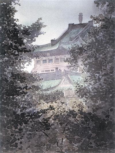 刘寿祥水彩风景
