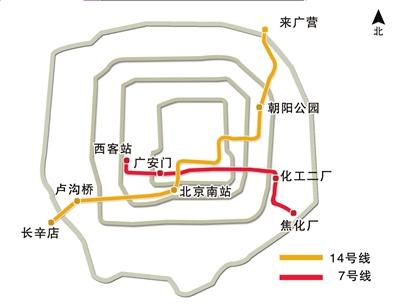 北京地铁7号线14号线近期开工