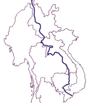 中国与老挝地图