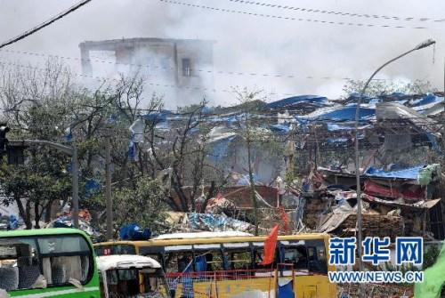南京爆炸系挖掘机碰裂地下管线所致