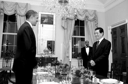 胡锦涛出席奥巴马私人晚宴