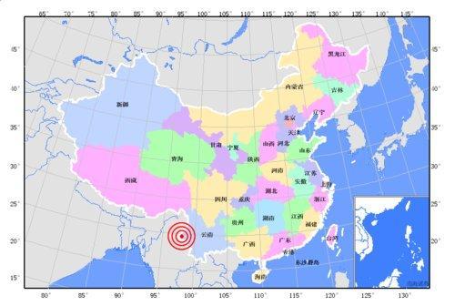 云南省德宏州盈江县发生5.8级地震