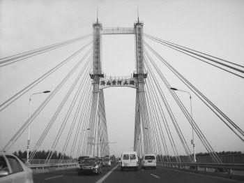 8月24日的济南黄河大桥。(吴荣欣 摄)