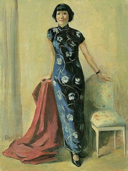 徐悲鸿 1941年的蒋碧薇肖像作品