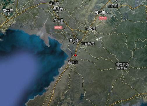 图中红点为地震震中