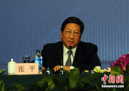 图为国家发展和改革委员会主任张平回答记者提问。中新网记者 程涛 摄