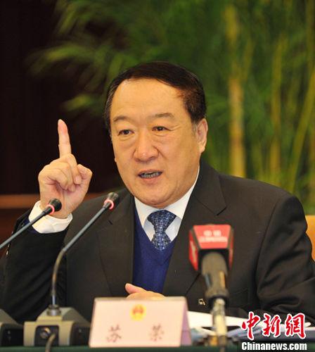 图为全国人大代表、中共江西省委书记苏荣。周霖 摄