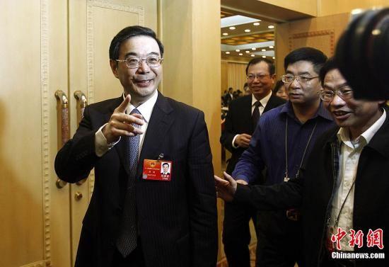 3月10日下午,十一届全国人大五次会议湖南代表团举行全体会议并向媒体开放,出席会议的中共湖南省委书记周强受到媒体关注。中新社记者 杜洋 摄