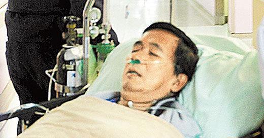 陈水扁在桃园医院就医。资料图