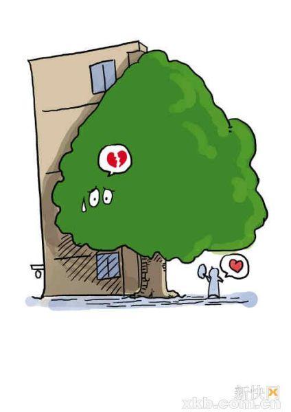 住在大树边的业主们,物管免费帮你剪烦恼枝
