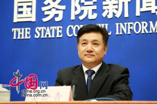 环境保护部副部长吴晓青出席发布会并介绍情况。中国网 董德 摄