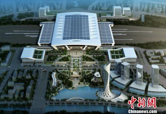全国最大客运枢纽杭州火车东站初显雏形