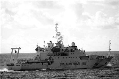 昨日,中国海监船在钓鱼岛附近巡航执法。