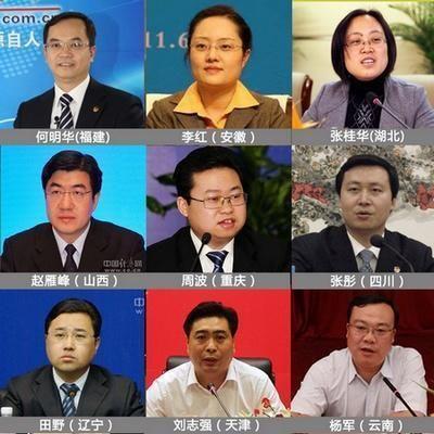 十八大后换届后当选的省级团委书记