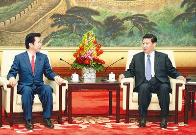 1月25日,中共中央总书记习近平在北京人民大会堂会见日本公明党党首山口那津男。新华社记者黄敬文摄