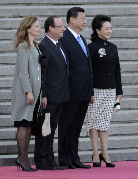 习近平会见法国总统奥朗