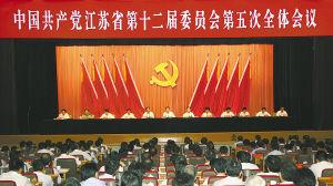 中共江苏省委十二届五次全会在宁举行