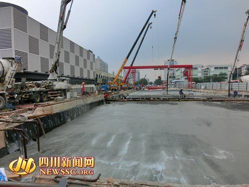 成都地铁3号线省体育馆站封顶本月底将还道于民