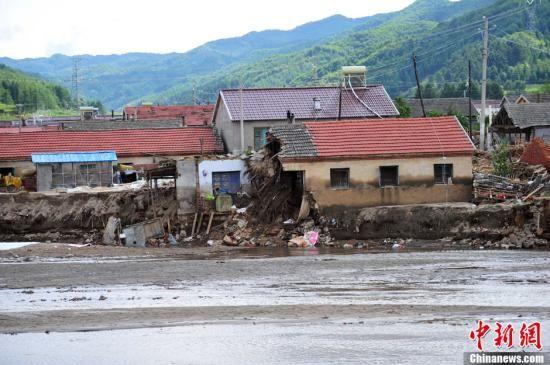 8月20日,辽宁抚顺清原县南口前镇海阳村受灾现场。中新社发 于海洋 摄