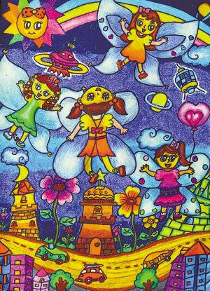 中国梦我的梦全省儿童画v全省优秀小学选登解作品方程五年图片
