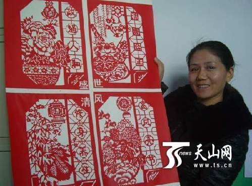 五师八十九团幼儿园举办廉政剪纸作品展示活动