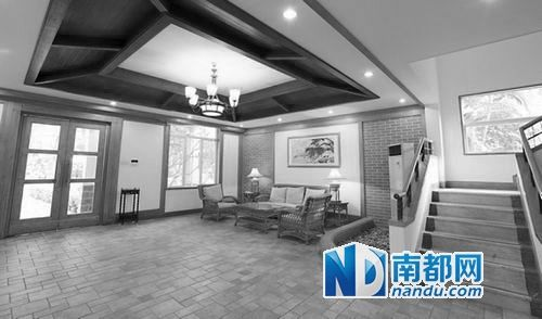 深圳市国税局金水湾度假村别墅大厅。