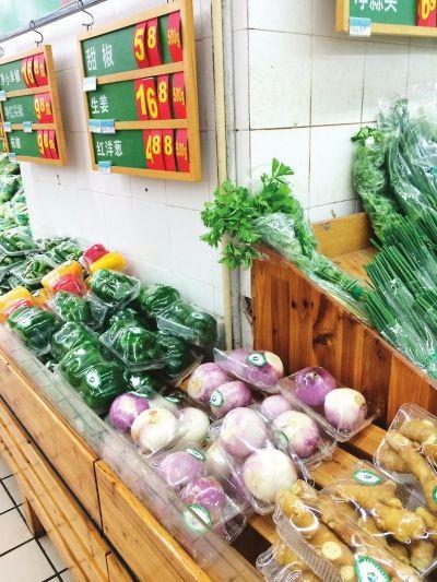 沃尔玛超市的生姜价格为16.8元/斤16.8元/斤