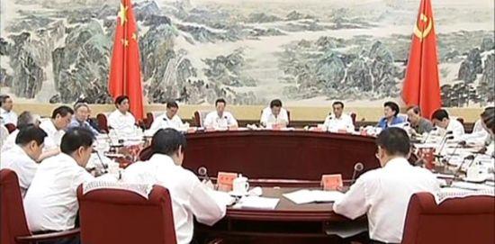 6月13日,中央财经领导小组第六次会议召开,官方媒体首次对财经小组会议进行实时新闻报道,并且详细公开财经小组组长、副组长、成员的名单。视频截图