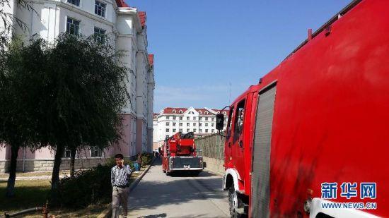 黑龙江省科技大学17号宿舍楼17日中午12时许发生火灾