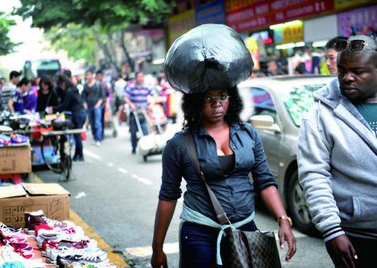 广州街头的非裔人士
