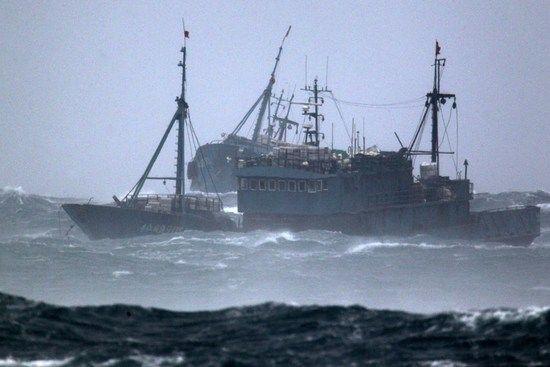 资料图:中国渔船。