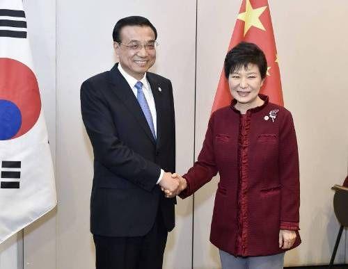 李克强会见韩国总统朴槿惠
