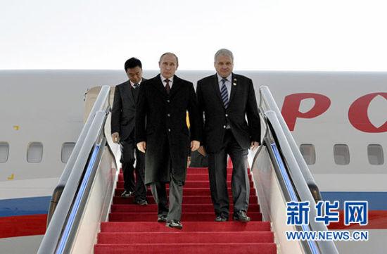 11月9日,俄罗斯总统普京抵达北京,将出席亚太经合组织领导人非正式会议。新华社记者马宁摄