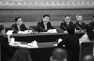 2014年3月6日,习近平参加十二届全国人大二次会议广东代表团的审议 新华社记者 谢环驰 摄