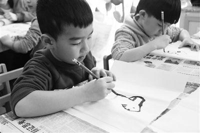 水墨画进幼儿园体验超师情趣清下载图片