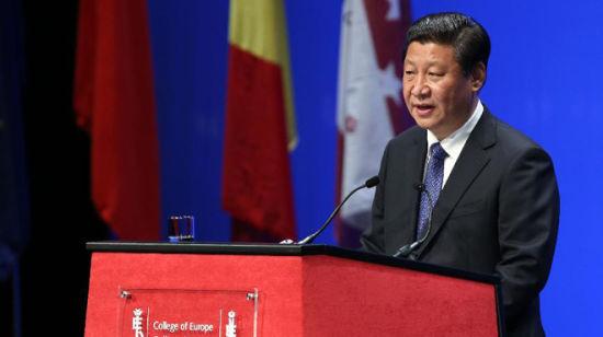 2014年4月1日,国家主席习近平在比利时布鲁日欧洲学院发表重要演讲。 新华社记者庞兴雷摄