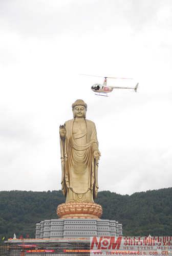 组图:直升飞机现场航拍