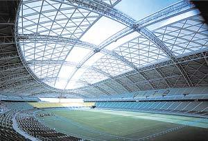 南通体育会展中心成中国最大开闭式屋盖体育场