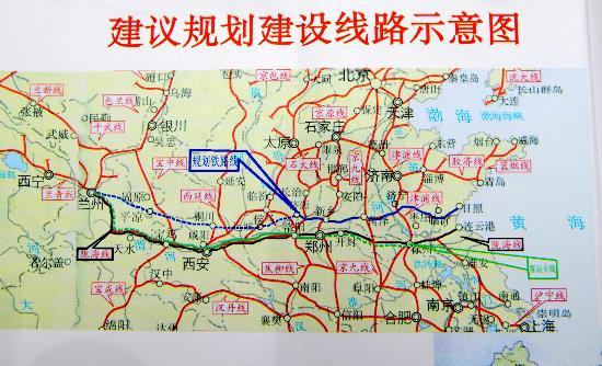 图文:兰州到日照的铁路线规划图