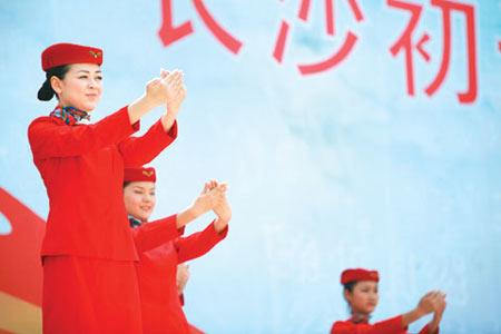 南航长沙招聘启动千人竞争65个空姐名额(组图)