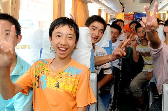 图文:青川132名学生转至银川异地复课