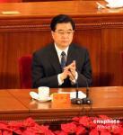 图文:胡锦涛出席共青团十六大开幕式