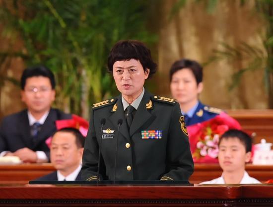 图文:成都公安消防支队支队长孙国利在作报告