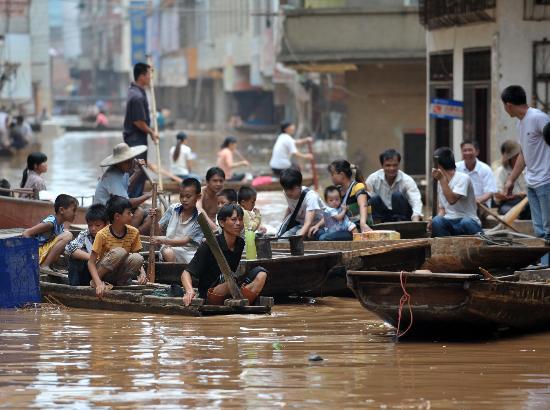 图文:强降雨已造成广西92个县市区受灾