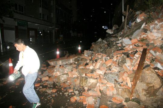 图文:攀枝花大田镇部分民房被震毁